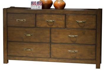 Liberty Deep Creek Drawer Dresser in Rustic Tobacco 788-BR31