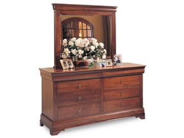 Durham Furniture Chateau Fontaine Landscape Mirror (Double Dresser sold separately)