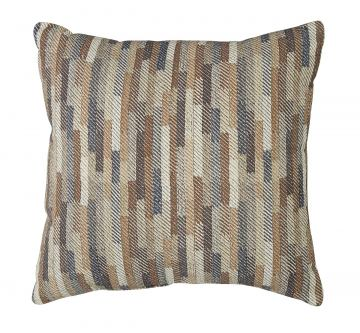Daru Staggered Stripe Designed Pillow in Cream and Brown (Set of 4)