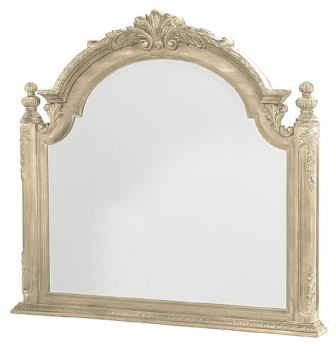 American Drew Jessica McClintock Boutique Landscape Mirror in White Veil 217-021W CODE:UNIV20 for 20% Off