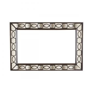 Magnussen Gramercy Landscape Mirror in Sable with Antique Silver B3564-40 CLOSEOUT