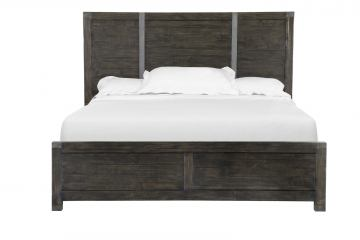 Magnussen Abington California King Panel Bed in Weathered Charcoal