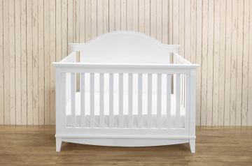 Franklin & Ben Arlington 4-in-1 Convertible Crib with Toddler Rail in White B6441W