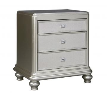 Coralayne 3 Drawer Nightstand in Silver B650-93