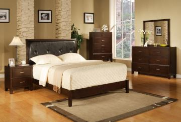 Crown Mark Furniture Serena Bedroom Set in Rich Brown