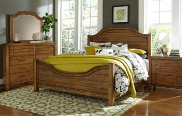 Broyhill Bethany Square™ Panel Bedroom Set in Brown