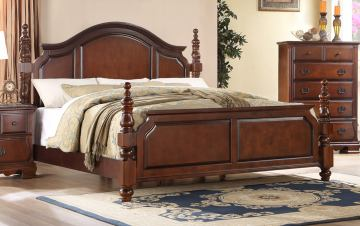 Fairfax Home Furnishings Folio Bethany King Panel Bed in Maple Brown