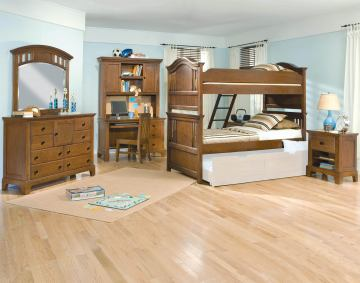 American Woodcrafters Bradford Bunk Bedroom Set in Rich Cherry