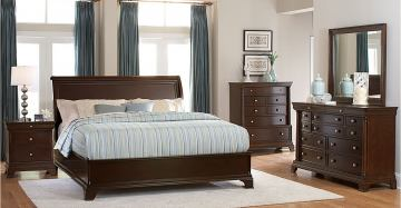 Homelegance Inglewood Platform Bedroom Set in Deep Cherry