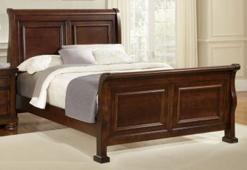 All-American Muse Eastern King Sleigh Bed in Dark Cherry