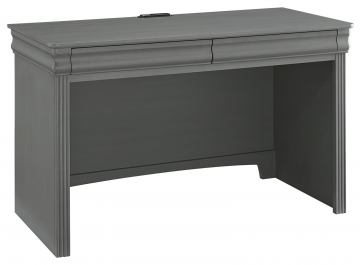 All-American French Market 2 Drawer Laptop/ Table Desk in Zinc