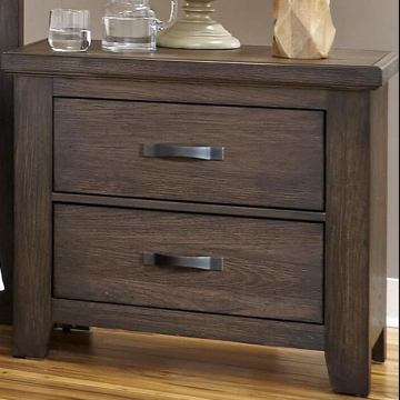 All-American Cassell Park 2 Drawer Nightstand in Dark Roast