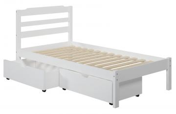 Manhattan Comfort Hayden Twin Storage Bed in White A206