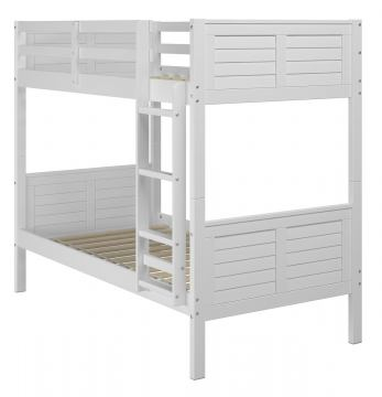 Manhattan Comfort Empire Twin Bunk Bed in White B106