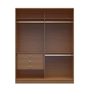 Manhattan Comfort  Chelsea 2.0 Double Basic Wardrobe with 3 Drawers in Maple Cream 117051