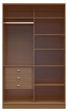 Manhattan Comfort  Chelsea 1.0 Full Wardrobe  with 3 Drawers in Maple Cream 117651