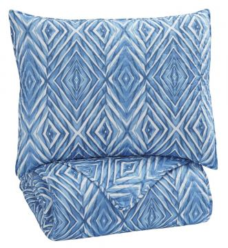 Jolana 2-pc Twin Quilt Set in Turquoise Q319001T