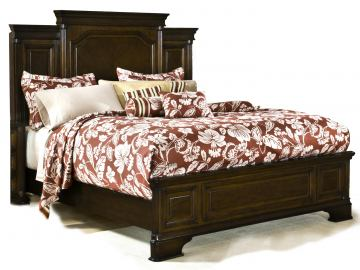 American Woodcrafters Grandeur King Panel Bed in Rich Cherry Brown 5200-66PAN
