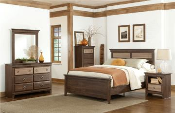 Standard Furniture Weatherly Panel Bedroom Set in 2-Tone