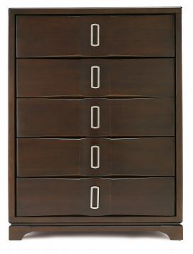 Casana Brooke 5 Drawer Chest in Deep Coffee 216-435