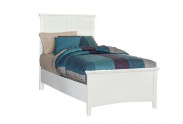 Standard Furniture Cooperstown Twin Panel Bed in White