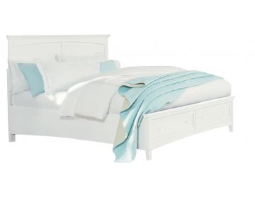 Standard Furniture Cooperstown King Storage Bed in White