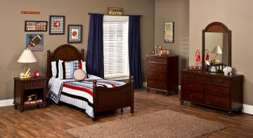Hillsdale Westfield Youth Poster Bedroom Set in Rich Espresso