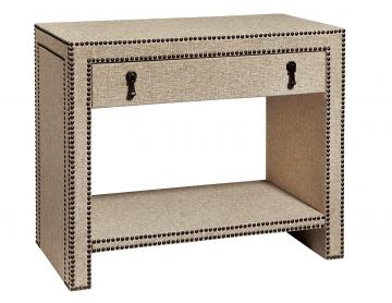 Fine Furniture Harbor Springs Nailhead and Linen Nightstand in Port 1370-106