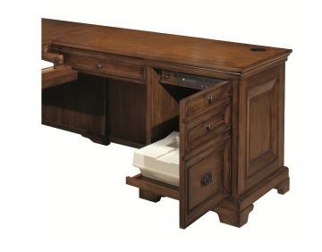 "Aspenhome Centennial 48"" Return Desk in Chestnut Brown I49-308"