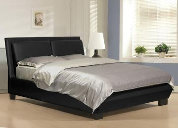 Baxton Studio Monroe Queen Modern Platform Bed in Black