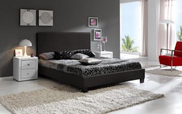 Baxton Studio Vivaldi Queen Bed in Dark Brown