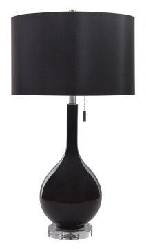 Andres Glass Table Lamp (Set of 2) in Black L430504