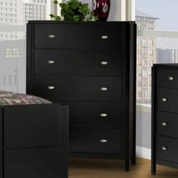 New Classic Luna 5 Drawer Chest in Black Cherry Finish 00-001-070