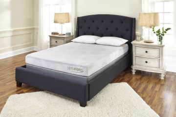 "7"" Gel Memory Foam King Mattress and Foundation Set"
