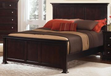 All-American Mother's Collection Queen Panel Bed in Merlot
