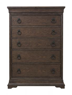 Pulaski Furniture Lindale 6 Drawer Chest in Cappuccino P030124