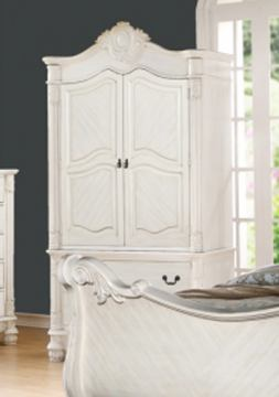 Meridian Riviera Armoire in Antique White