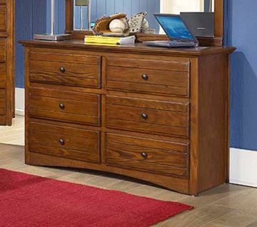 New Classic Sawmill 6 Drawer Dresser in Cocoa 05-054-052