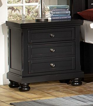 All-American Reflections Nightstand in Ebony
