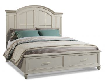 Klaussner Sea Breeze Island Bliss California King Panel Storage Bed in White 425-160