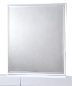 Global Furniture Bailey Mirror in White