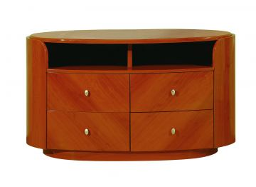 Global Furniture Emily Entertainment Unit in Cherry