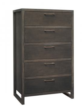 Ligna Tribeca 5 Drawer High Chest in Graphite 9324GR