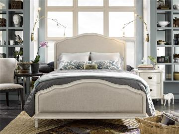 Universal Furniture Curated Amity 4-Piece Bedroom Set in Cotton