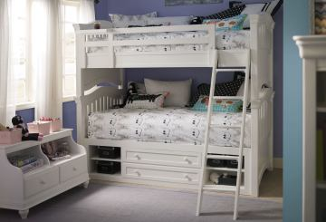 Universal Smartstuff Classics 4.0 Bunk Bedroom Set in Summer White
