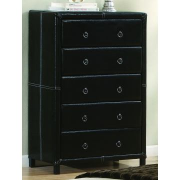 Coaster Danielle Chest in Black Vinyl 201265