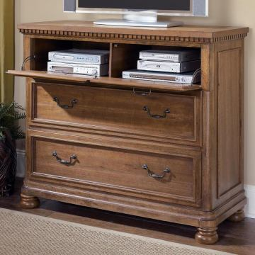 Summerlands Media Chest in Cappuccino