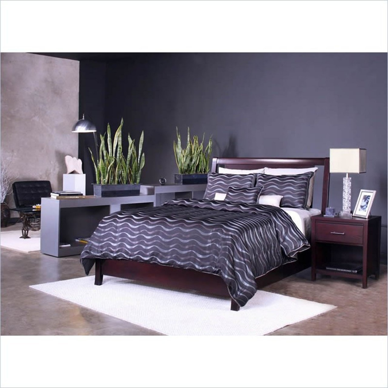 Modus Nevis Low Profile Storage Bedroom Set in Espresso
