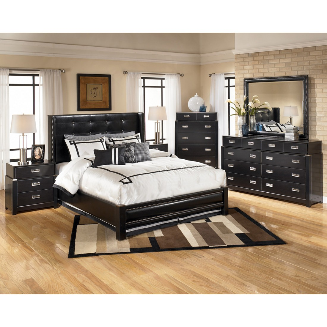 Diana Platform Bedroom Set in Deep Espresso