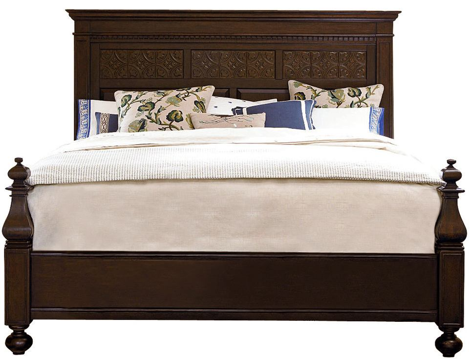 Universal Furniture Paula Deen Down Home King Aunt Peggy's Bed in Molasses 193260